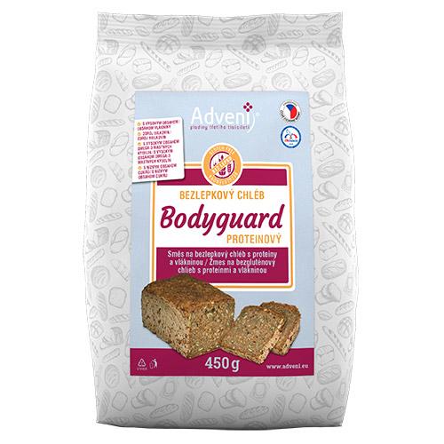 Bezlepkový chléb BODYGUARD s proteiny a vlákninou