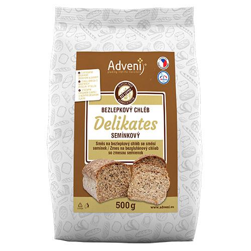 Bezgluténový chlieb DELIKATES zo zmesou semienok