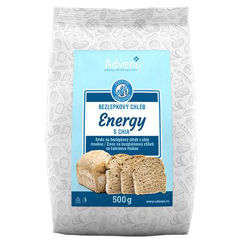 Bezlepkový chléb ENERGY s chia