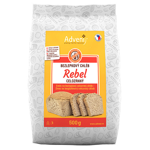 Bezgluténový celozrnný chlieb REBEL