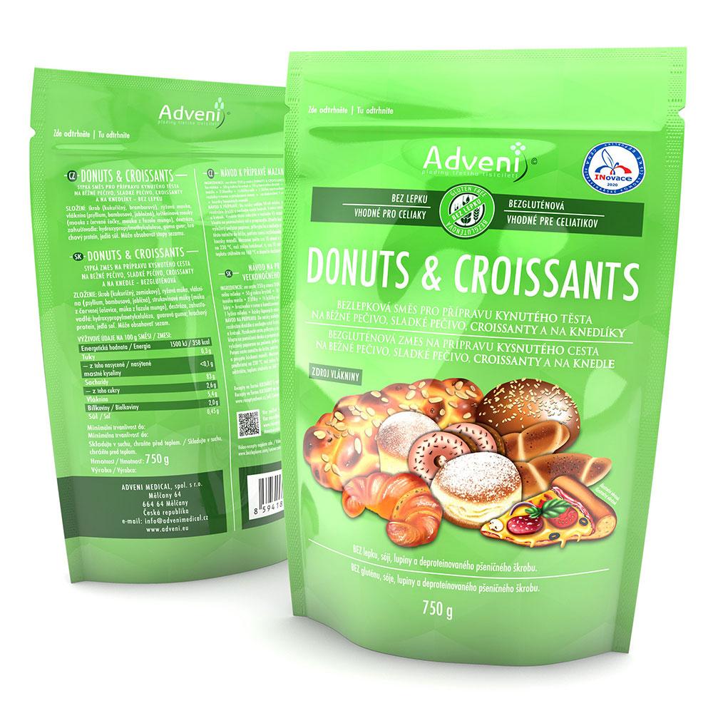 Bezgluténová zmes na prípravu kysnutého cesta DONUTS & CROISSANTS 750 g