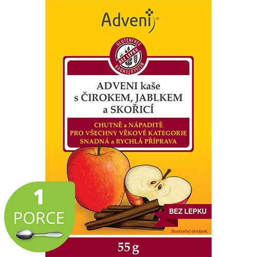 Adveni kaša scirokom, jablkom aškoricou 1porcia vrecúško