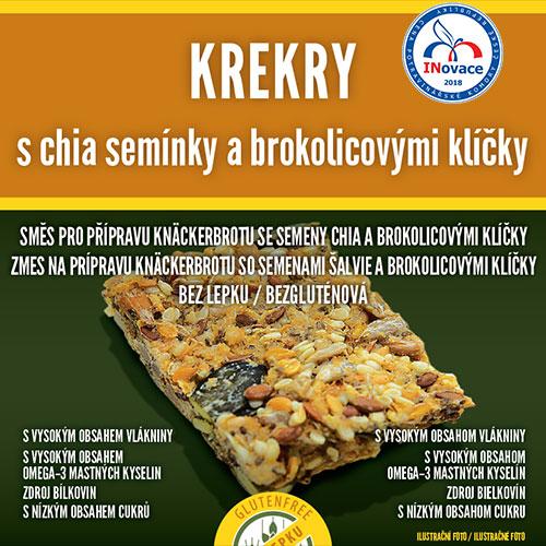 Krekry s chia semínky a brokolicovými klíčky, AKCE 1+1 zdarma, DMT:01.02.2020