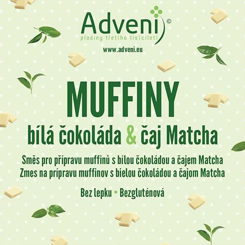 Muffiny biela čokoláda & čaj Matcha