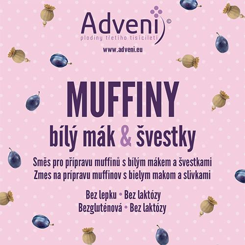 Muffiny biely mak &slivky
