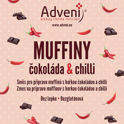 Muffiny čokoláda &chilli