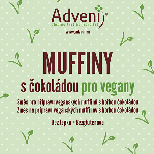 Muffiny s čokoládou pre vegánov