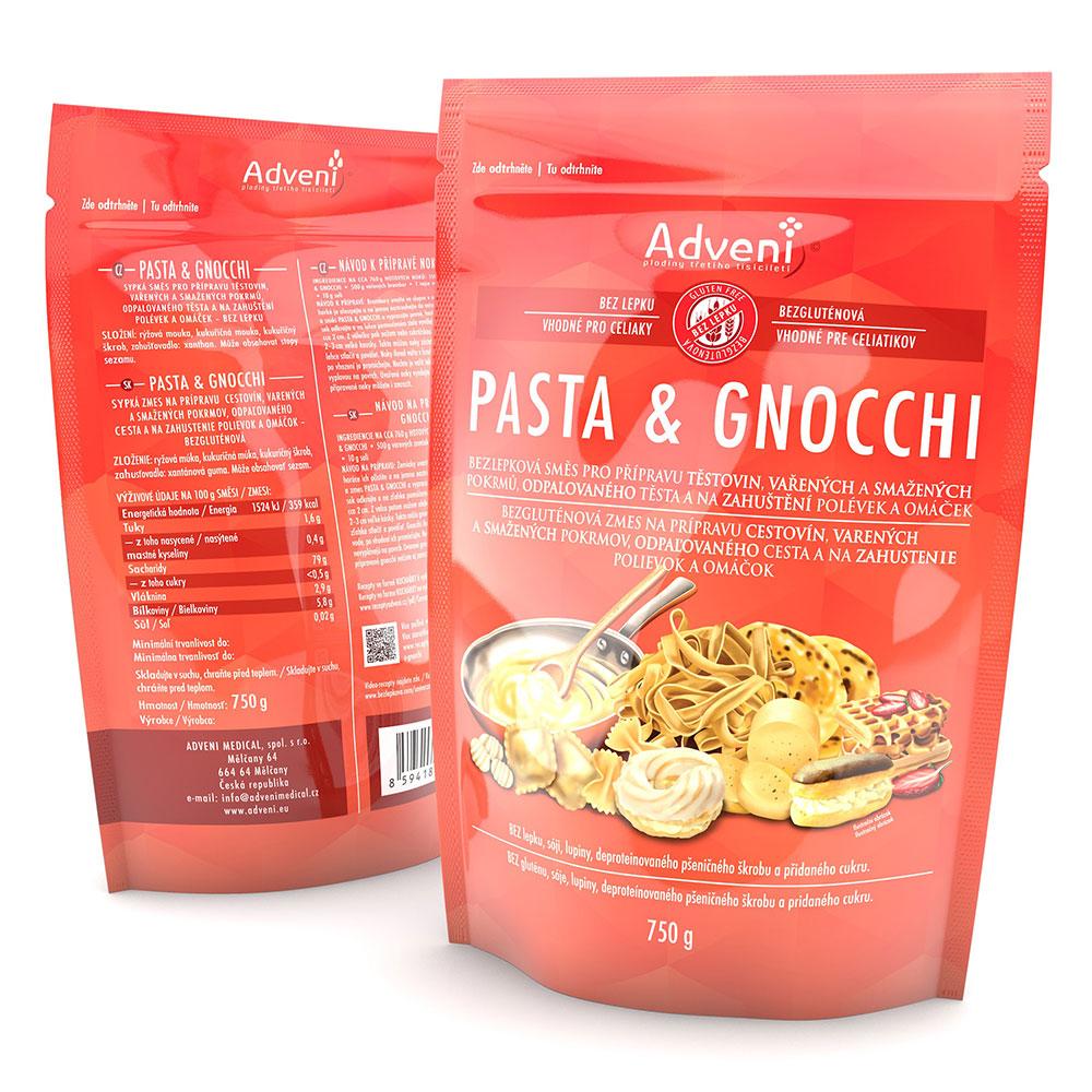 Bezlepková směs pro přípravu těstovin, vařených a smažených pokrmů, odpalovaného těsta a na zahuštění polévek a omáček PASTA &GNOCCHI 750g